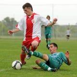 Acción del fútbol Imagen de archivo libre de regalías