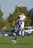 Acción del fútbol del HS Foto de archivo libre de regalías