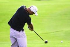 Acción del golf Foto de archivo