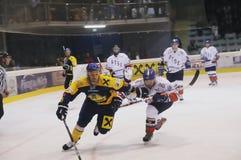 Acción del hockey Imagen de archivo libre de regalías