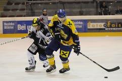 Acción del hockey Fotografía de archivo