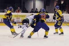 Acción del hockey Foto de archivo libre de regalías