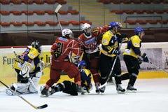Acción del hockey Imágenes de archivo libres de regalías