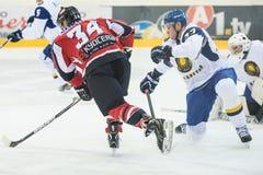Acción del hockey Imagenes de archivo