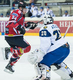 Acción del hockey Fotos de archivo