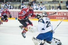 Acción del hockey Foto de archivo