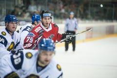 Acción del hockey Imagen de archivo