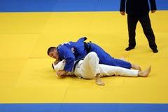 Acción del judo Fotografía de archivo