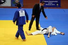 Acción del judo Fotos de archivo libres de regalías