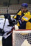 Acción del juego de hockey Fotos de archivo libres de regalías