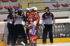 Acción del juego de hockey Imagen de archivo