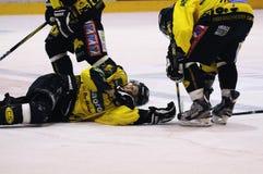 Acción del juego de hockey Fotografía de archivo