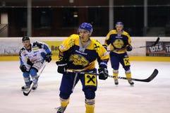 Acción del juego de hockey Fotos de archivo