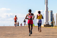 Acción del maratón de las muchachas Fotos de archivo
