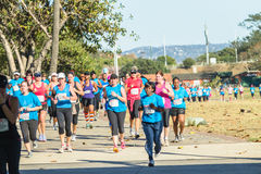Acción del maratón de las señoras Fotografía de archivo libre de regalías