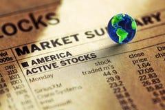 Acción del mercado de los E.E.U.U. Foto de archivo libre de regalías