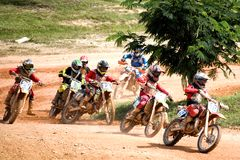 Acción del motocrós Fotos de archivo