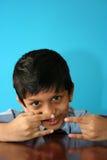 Acción del muchacho de Yo Fotografía de archivo