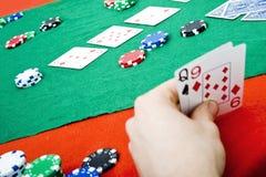 Acción del póker Foto de archivo libre de regalías