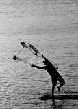Acción del pescador Fotos de archivo