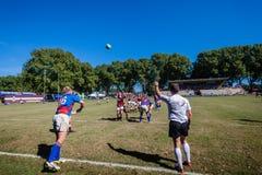 Línea-Hacia fuera rugbi Framesby Kearsney de la bola Fotografía de archivo libre de regalías