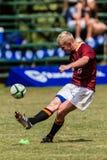 Rugbi Paul Roos de la bola del retroceso de meta del jugador Fotografía de archivo