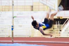 Acción del salto de altura (enmascarada) Fotografía de archivo libre de regalías