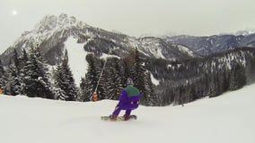 Acción del Snowboarder metrajes
