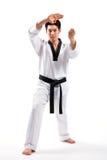 Acción del Taekwondo Imagen de archivo