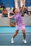 Acción del tenis   Imagen de archivo