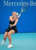 Acción del tenis Fotografía de archivo libre de regalías