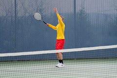 Acción del tenis Fotos de archivo libres de regalías