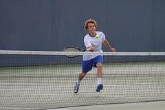 Acción del tenis Fotos de archivo