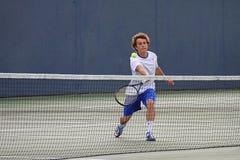 Acción del tenis Foto de archivo