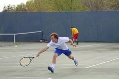 Acción del tenis Foto de archivo libre de regalías