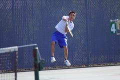 Acción del tenis Imagenes de archivo