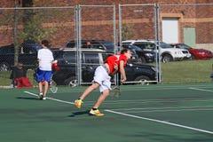 Acción del tenis Fotografía de archivo