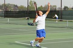 Acción del tenis Imagen de archivo libre de regalías