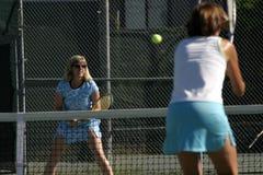 Acción del tenis Imágenes de archivo libres de regalías
