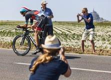 Acción del Tour de France Foto de archivo