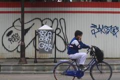 Acción del vandalismo en instalaciones públicas Imagen de archivo
