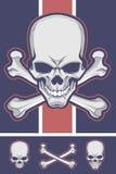 Acción del vector de la bandera pirata Foto de archivo