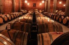 Acción del vino con los robles fotografía de archivo libre de regalías