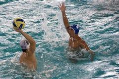 Acción del water polo Imagenes de archivo