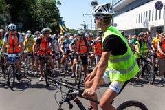 Acción dentro del día ucraniano de la bicicleta en Járkov Ucrania Imagen de archivo