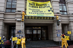 Acción ecológica de Greenpeace Imagenes de archivo