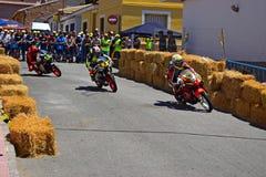 Acción el competir con de camino de la motocicleta Foto de archivo libre de regalías