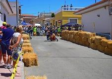 Acción el competir con de camino de la motocicleta Imagenes de archivo