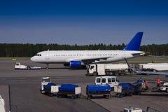 Acción en el aeropuerto Imágenes de archivo libres de regalías