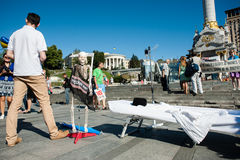 Acción en la ayuda Ilmi Umerov Foto de archivo libre de regalías